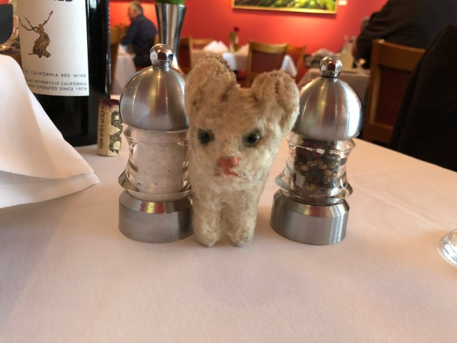 Frankie and the salt and pepper grinders