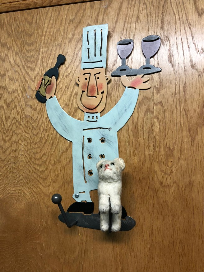 Frankie hung around the chef