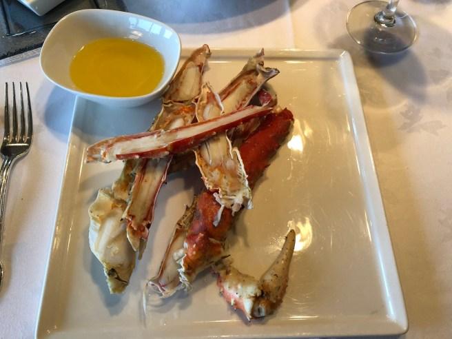 King Crab claws closer