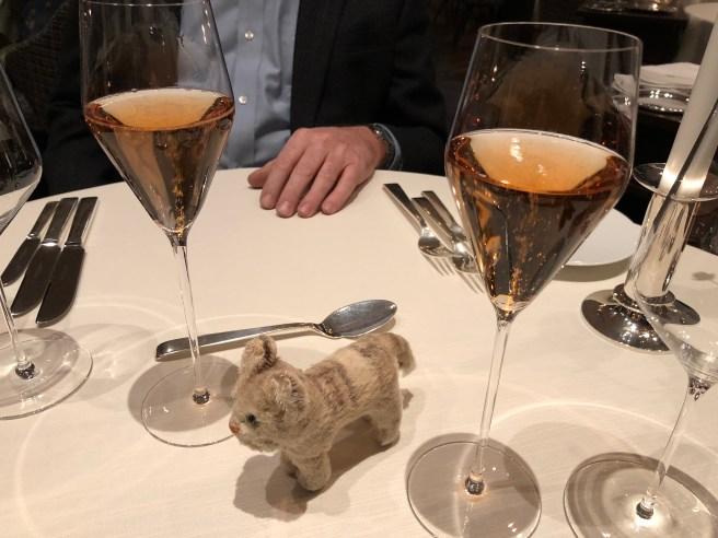 Frankie enjoyed some champagne