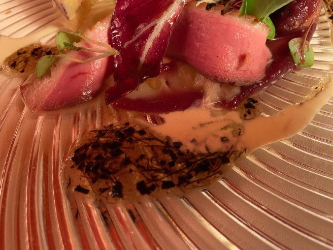 pink duck breast