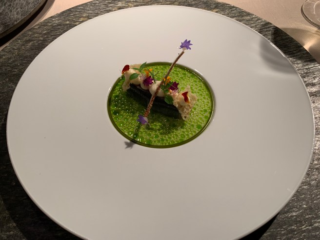Breton sardine, Don Bocarte anchovies, grapes, pistachio, Parmesan and Rieslingverjus