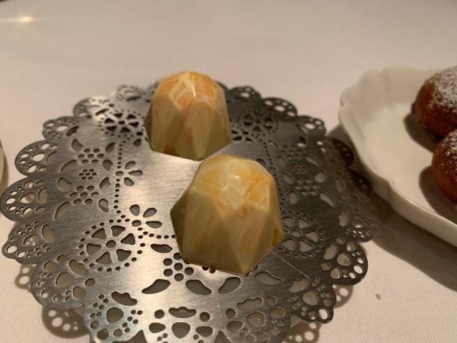 lemon-white chocolate bon bon