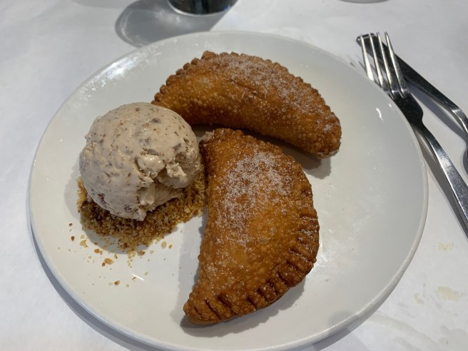 Fried Apple Pie with Butter Pecan Ice Cream