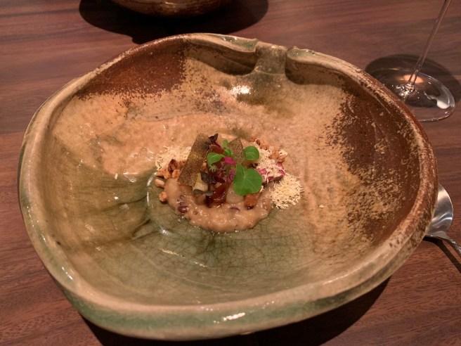 Sonoma grains, chestnut, pear, sweet potato and cipollini onion