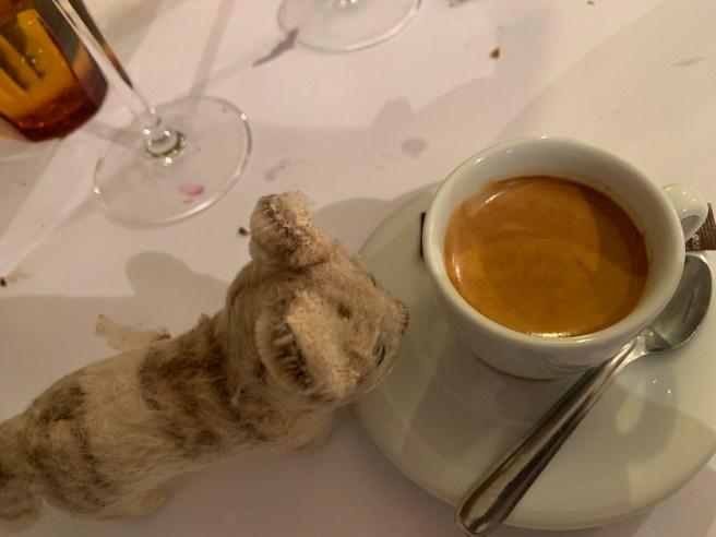 Frankie had coffee