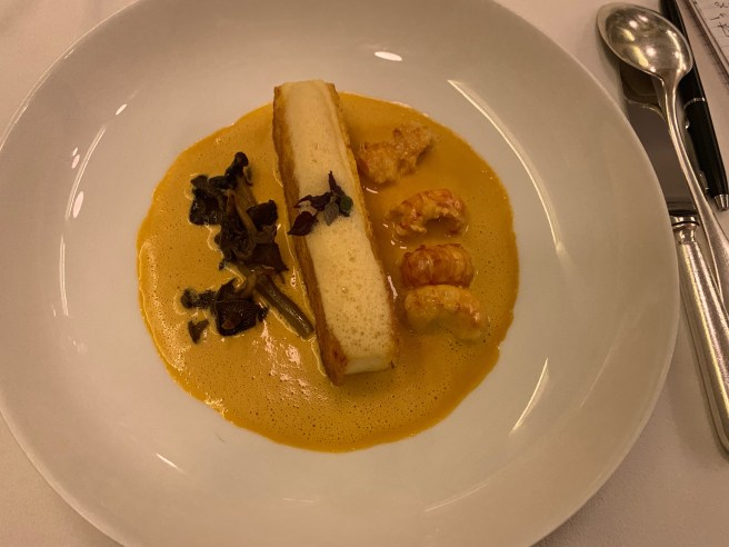 Crispy Pike Mousse with Crayfishes