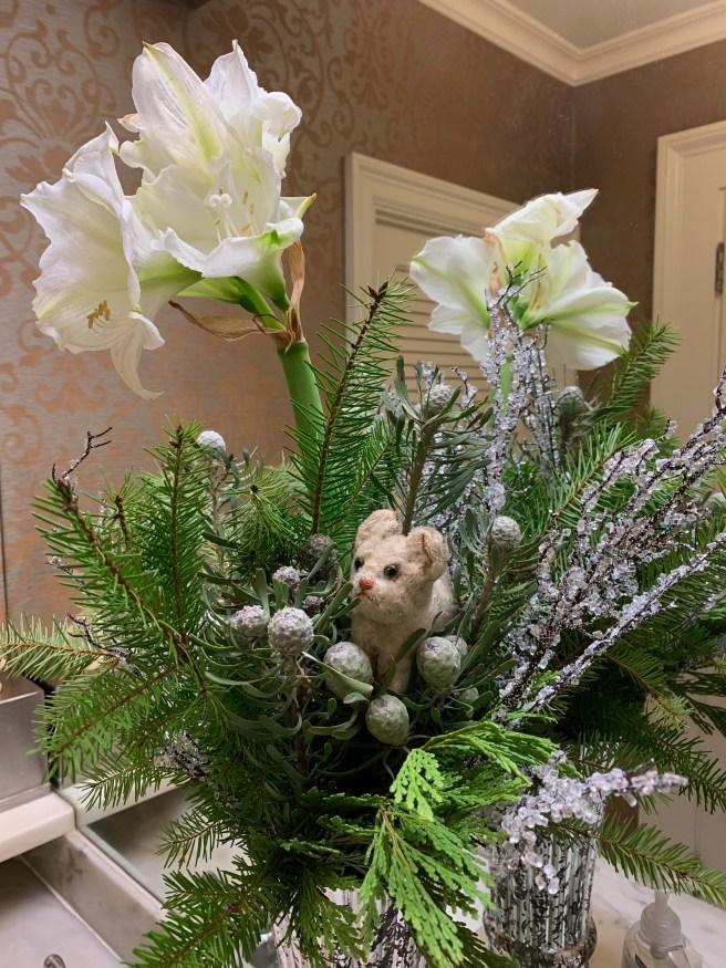 Frankie loves flowers