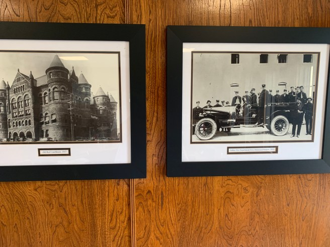 old photos on wall