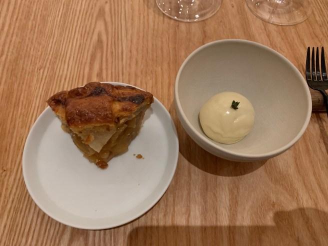 Apple pie, thyme ice cream