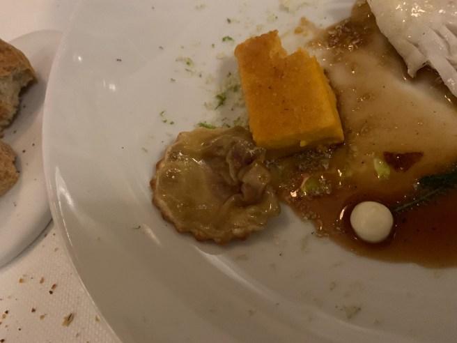underside of ravioli