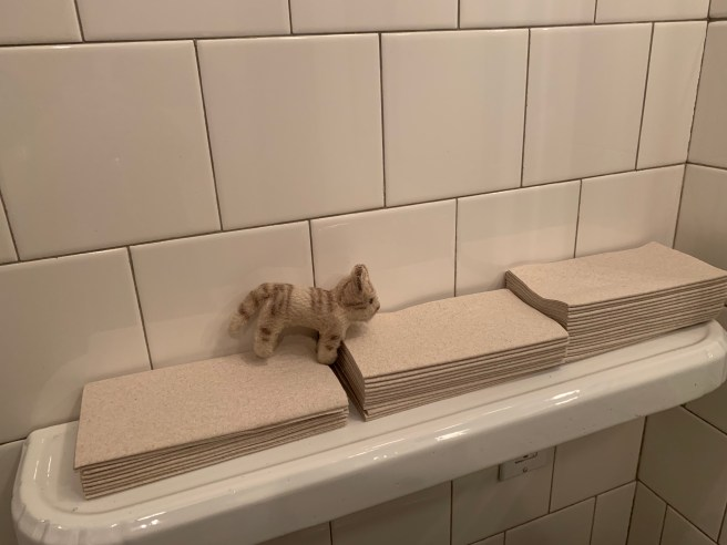 Frnakie checked out the hand towels