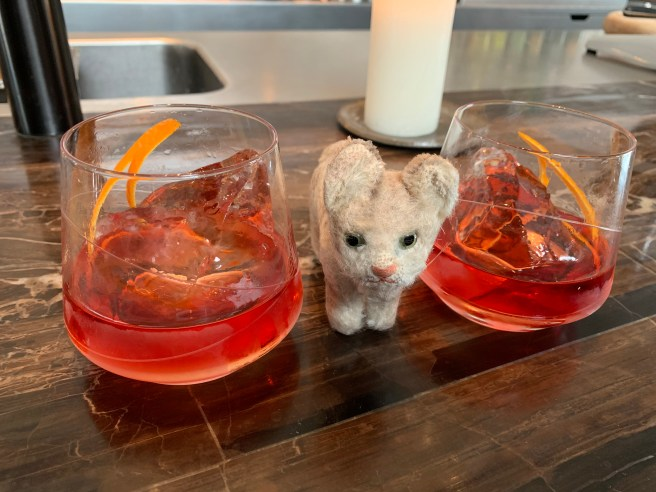Frankie and some negronis