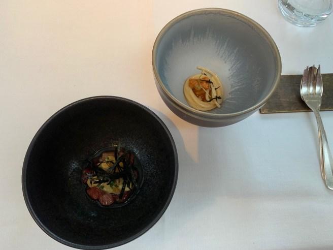 blue fin, cscrambled egg, sea urchin spaghetti