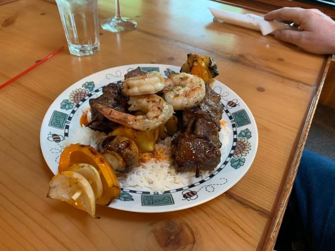 kabob with shrimp