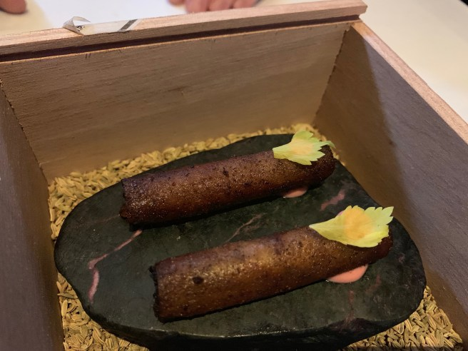 Braised Waygu beef cigar