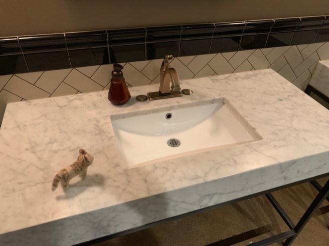 Frankie inspected the sink