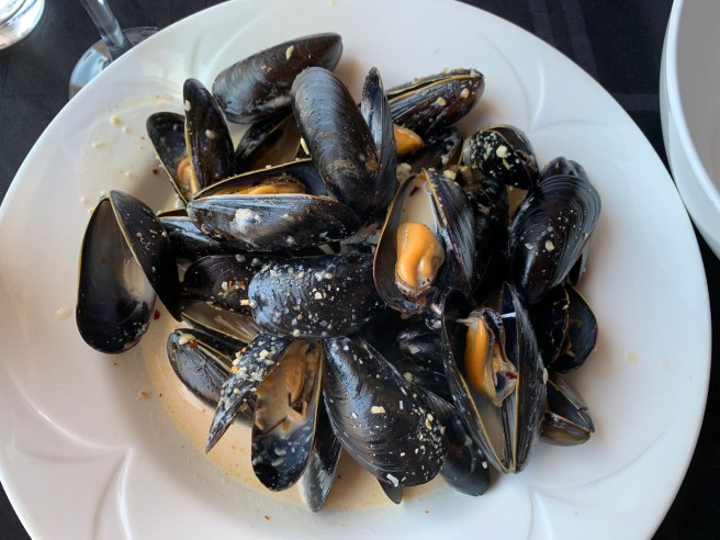 Spicy Maple Bourbon Cream Mussels