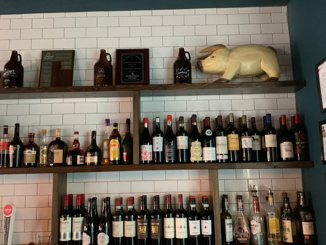 wines and decorations