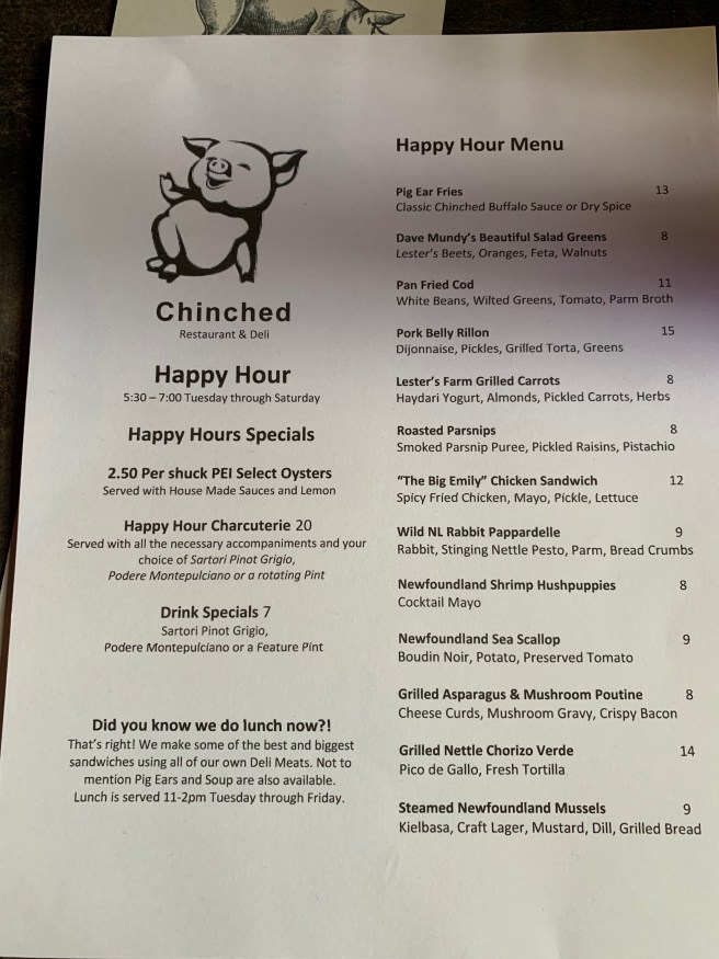 happy hour info