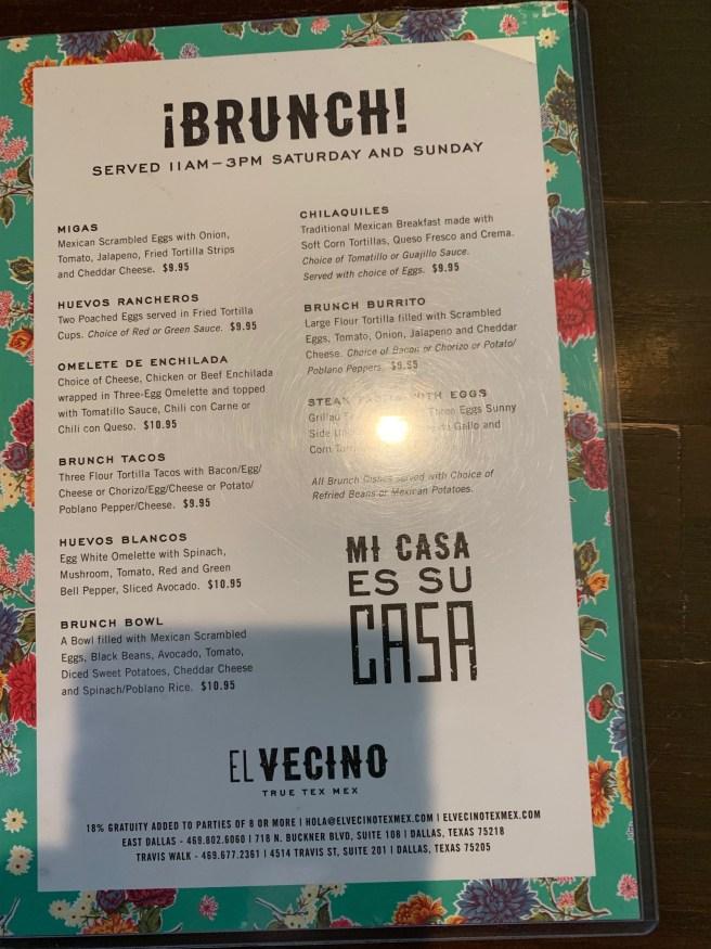 brucnh menu