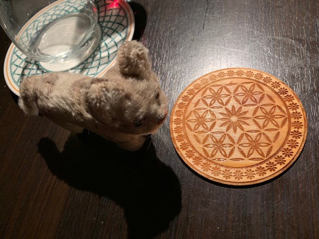 Frankie liked the coaster