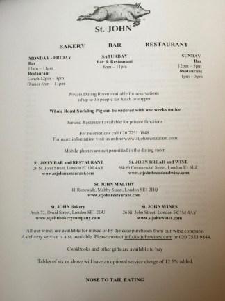 restaurant partiuclars
