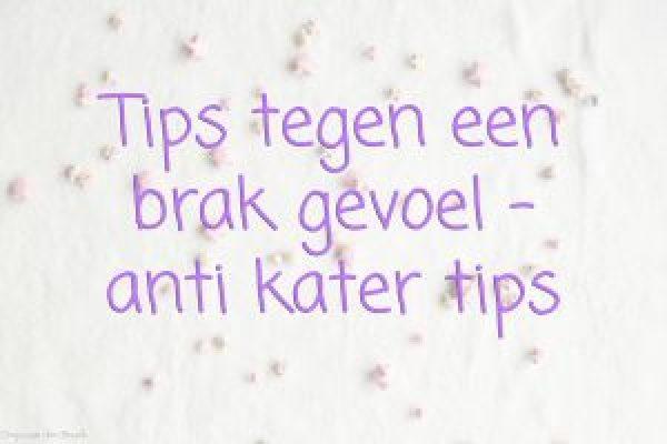 Anti kater tips