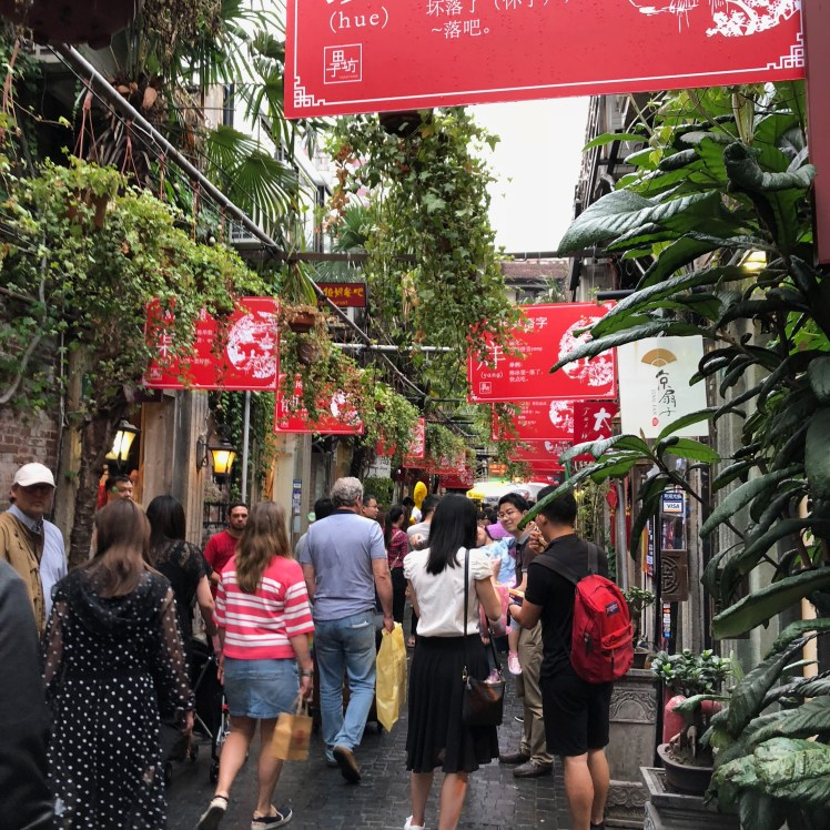Tianzifang in Shanghai can get crowded