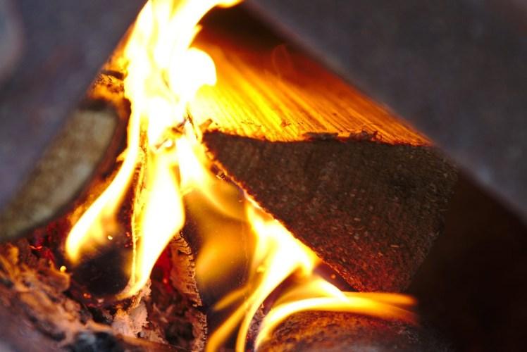 Live flame
