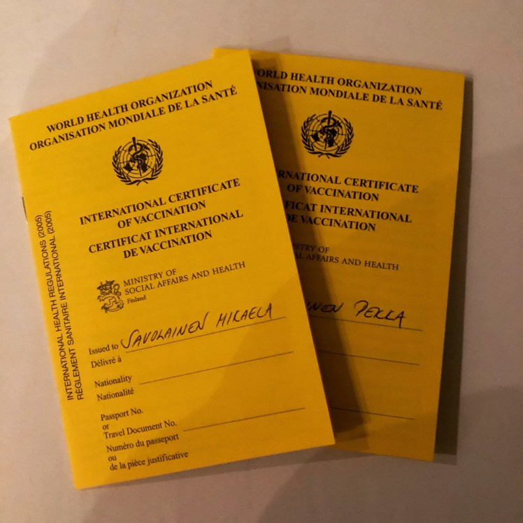 Yellow Fever Vaccination Certificates