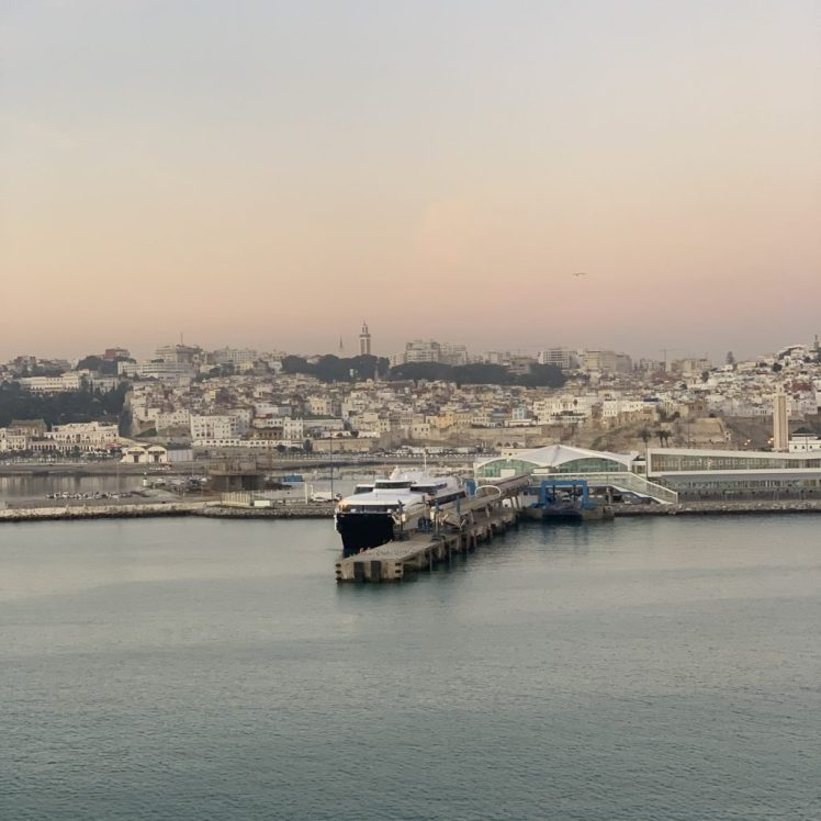 Early morning in Tangiers, a view from our stateroom balcony