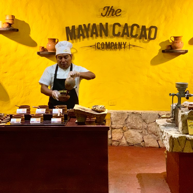 Our couples travel experience in Cozumel , Mexico was learning about chocolate making