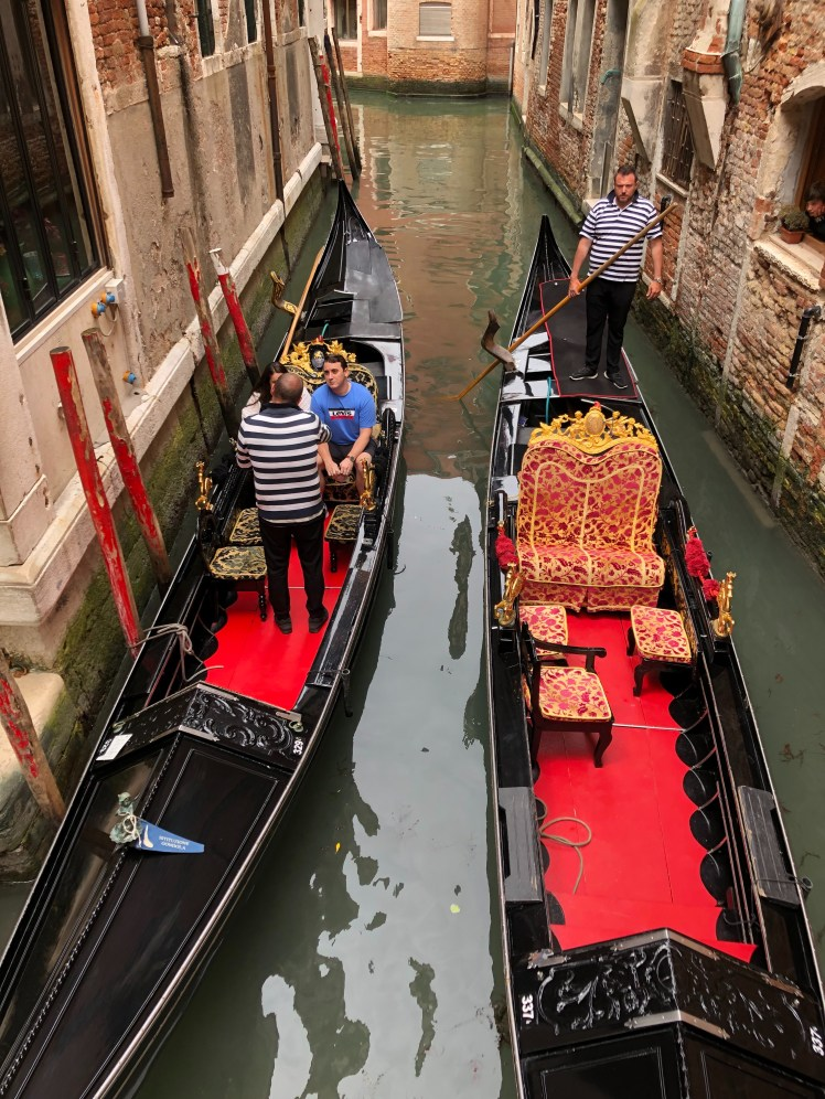 Venice gondoliers waiting for customers