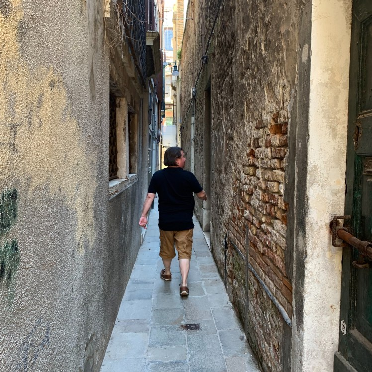 Venice is a maze of narrow streets