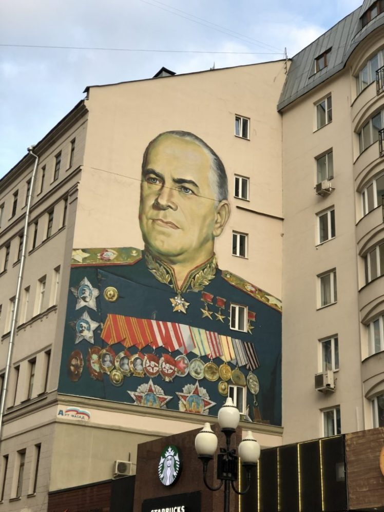 Old Arbat Street Moscow murals