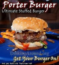 Porter Burger with Creole Sweet Potato Fries
