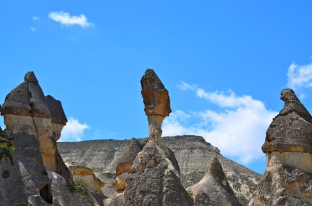 The soft volcanic rock in Capadoccia makes for some interesting rock formations