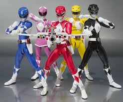 Les figurines Power Rangers