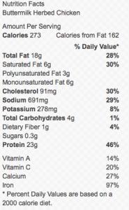 Nutritioal Information