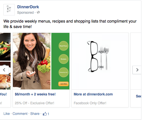 Screen 2 of scrolling Facebook ad