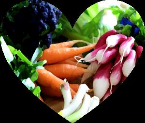 Spring Produce Heart