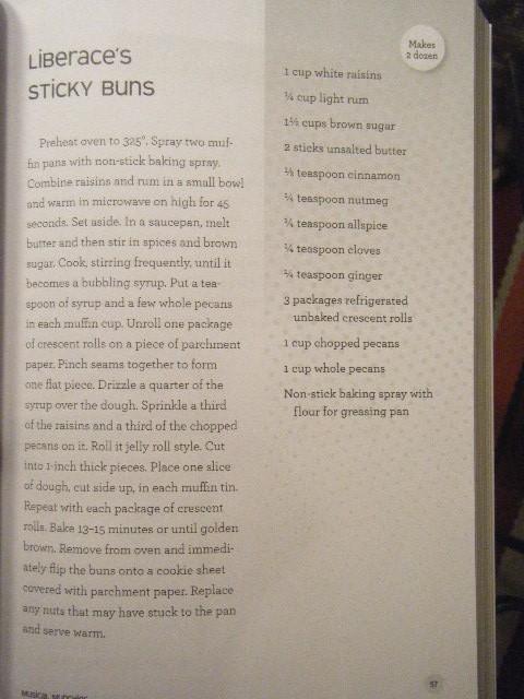 Liberace's Sticky Buns recipe