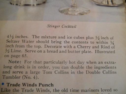 Tom Collins Recipe--Stouffer's 2
