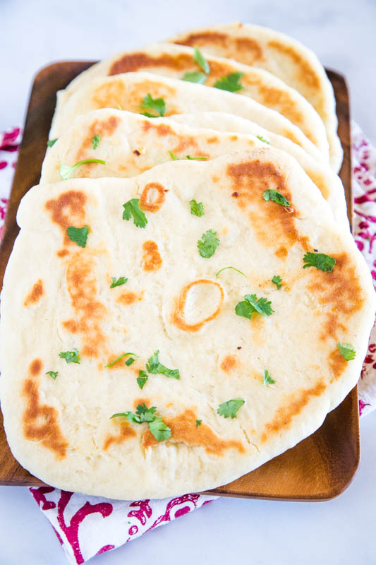 Easy homemade naan bread to go with your Asian dinner