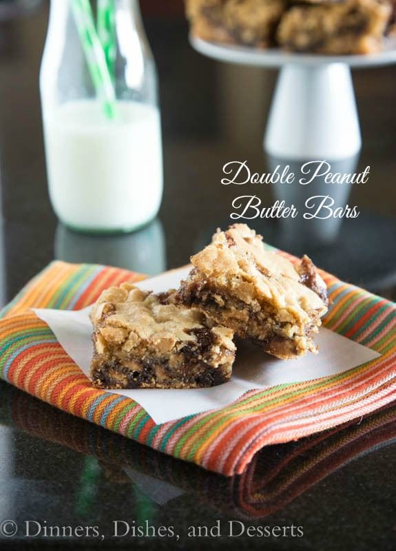 Double Peanut Butter Bars | Dinners, Dishes, and Desserts