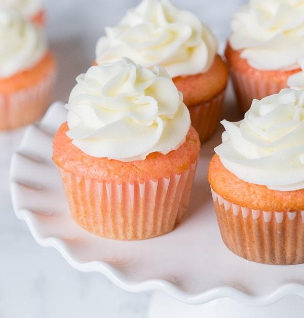 Strawberry Almond Cupcakes