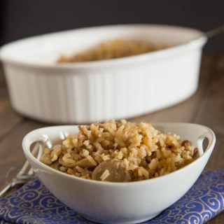 THE Rice - this rice is a super easy side dish the whole family will love. Mushrooms and french onion soup give the rice lots of great flavor.