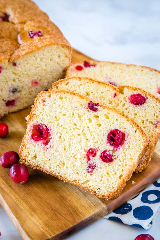 Easy Cranberry Bread is great with fresh or dried cranberries