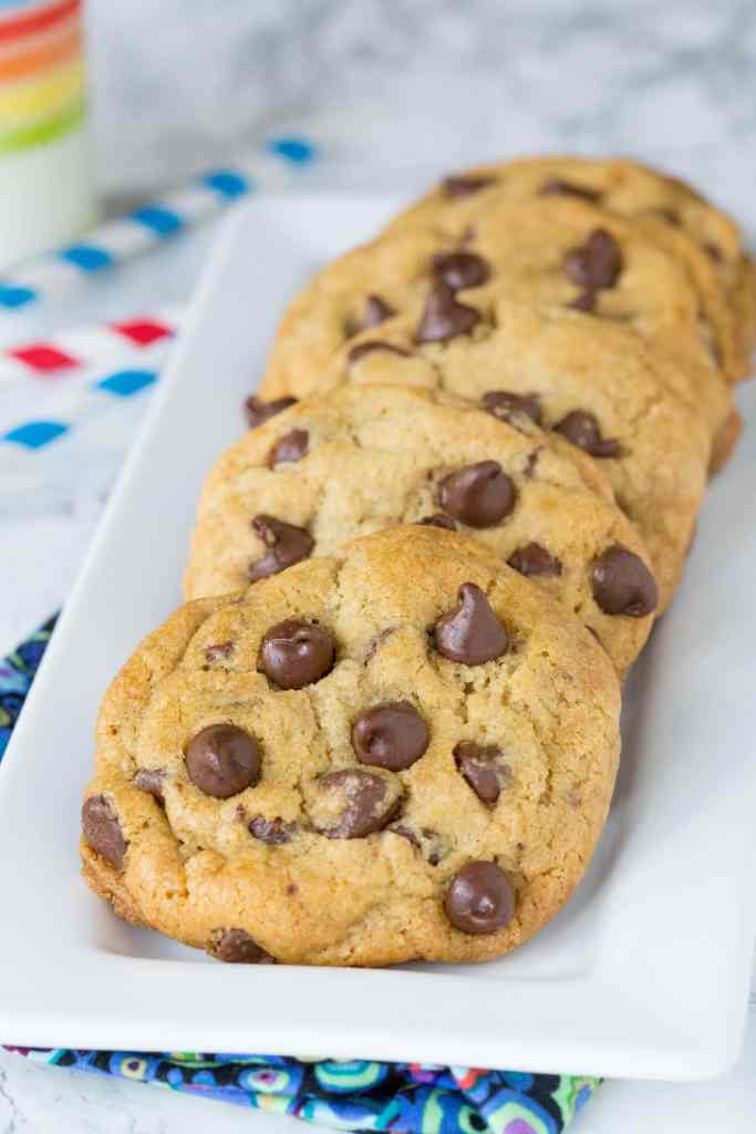Thick and chewy chocolate chip cookies recipe